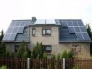 Fertiges Dach mit Solaranlage