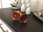 Rosen aus Kupferblech und Titanzinkblech